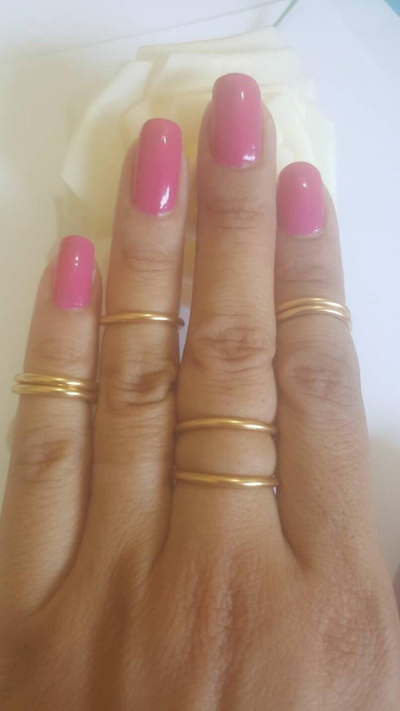Trendy Set 6 Gold Adjustable Rings for women Gifts for Her. Gift for Women Gift for Wife