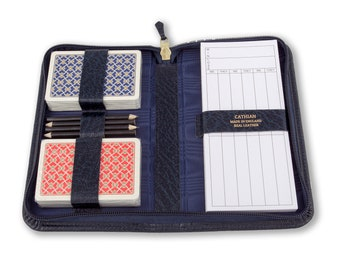 Bridge Case , Playing Card Games Case, Travel Games Case Real Leather