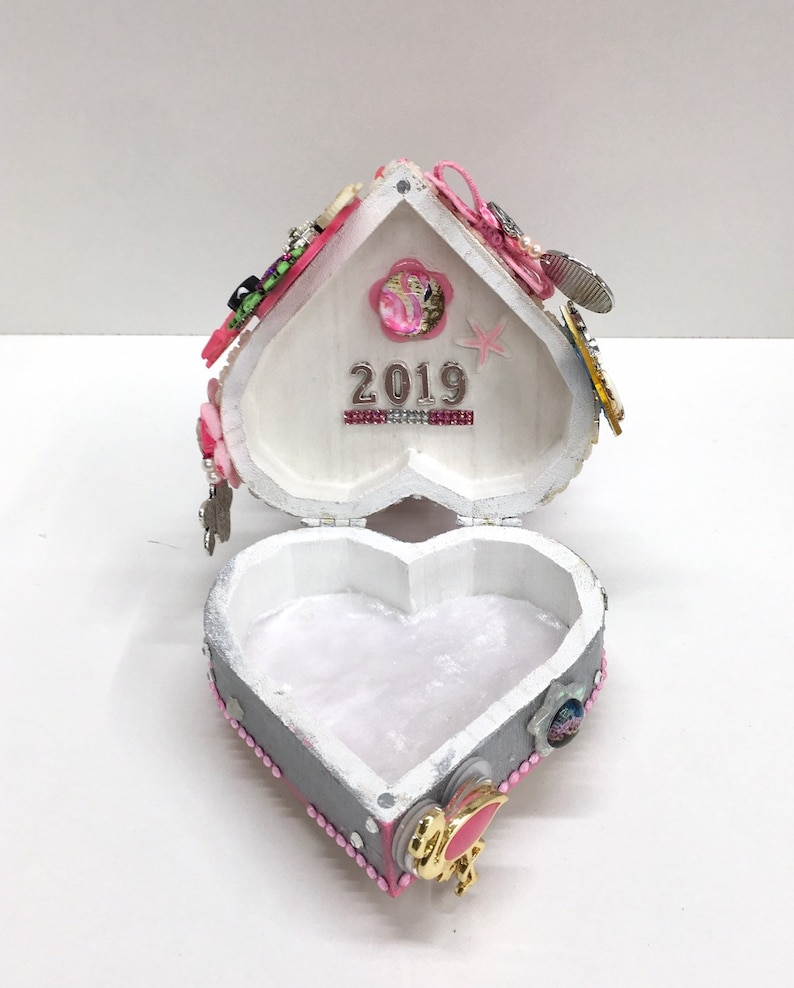 Flamingo Jewelry Box Beach Scene Trinket Box Flamingo Jewelry Box Gift Flamingo Decor