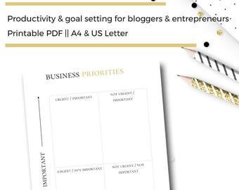 monthly blog planning printable blogging stats tracker etsy