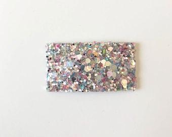 Chunky glitter snapclip/ multi colored glitter snapclip/ snapclips