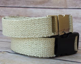"Hemp Collar / Hemp Dog / Plain Hemp Collar / Large Dogs / Medium Dogs / 1"" Collar Skin Allergy Rash / 100 Natural Hemp / Durable Ecofriendly"