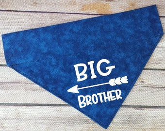 Big Brother Dog Bandana / Pregnancy Announcement Dog / Over the Collar / Boy Dog Bandana / Cat Bandana / Baby Announcement / Dog Scarf