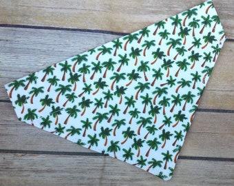 Palm Tree Dog Bandana / Summer Cat Bandana / Puppy Bandana / Over the Collar / Boy Dog Bandana / Girl Dog Neckerchief / Tropical Dog Scarf