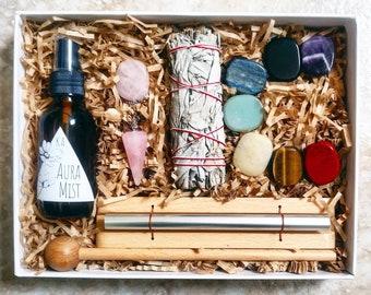MEDITATION KIT | chakra clearing meditation spray room auric enhancing calming room hightened awareness zen yoga sage smudging concentration