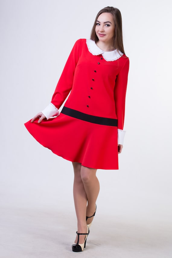 veruca salt dress red halloween outfit girl birthday party etsy