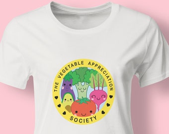 The Vegetable Appreciation Society vegan unisex womens t-shirt - vegetarian tee - eco-friendly - gift for her - vegan clothing