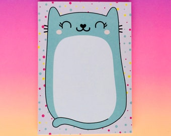 Cat Notepad, To do list notepad, Cat Notebook, Cute Notepad, kawaii stationery, cat note pad, to do list, memo pad, teacher gift, A6 notepad