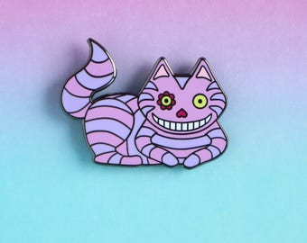 Cheshire Cat Enamel Pin - Dinsey pins - Alice in Wonderland gift - cat pin - enamel pin - lapel pin - cat gifts