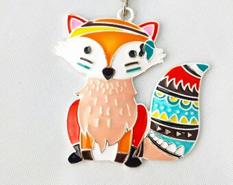 Funky Fox Planner Charm//Travelers Notebook Accessories