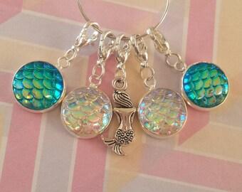 Mermaid Sparkle Stitch Marker Set