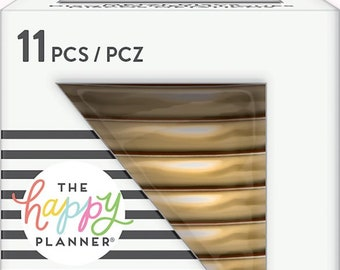 Happy Planner METAL Medium Discs in Gold, MAMBI Discs, Create 365 Discs