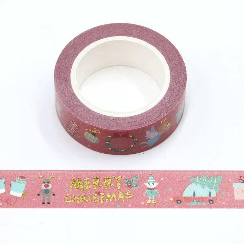 Foiled Christmas Washi Tape