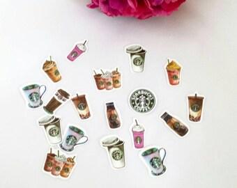 Coffee Die Cut Stickers// Planner Stickers// Journal// Scrapbook