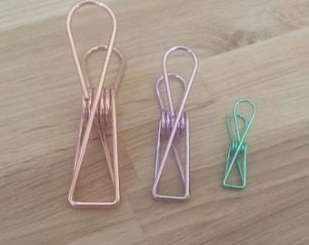 Metallic Binder Clips