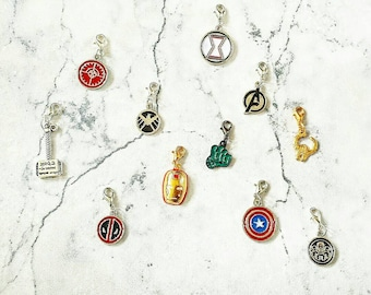Super Hero Planner Charm//Zip Pull//Purse Charm//Stitch Marker