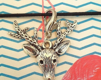 Stag Planner Charm// Deer Stitch Markers