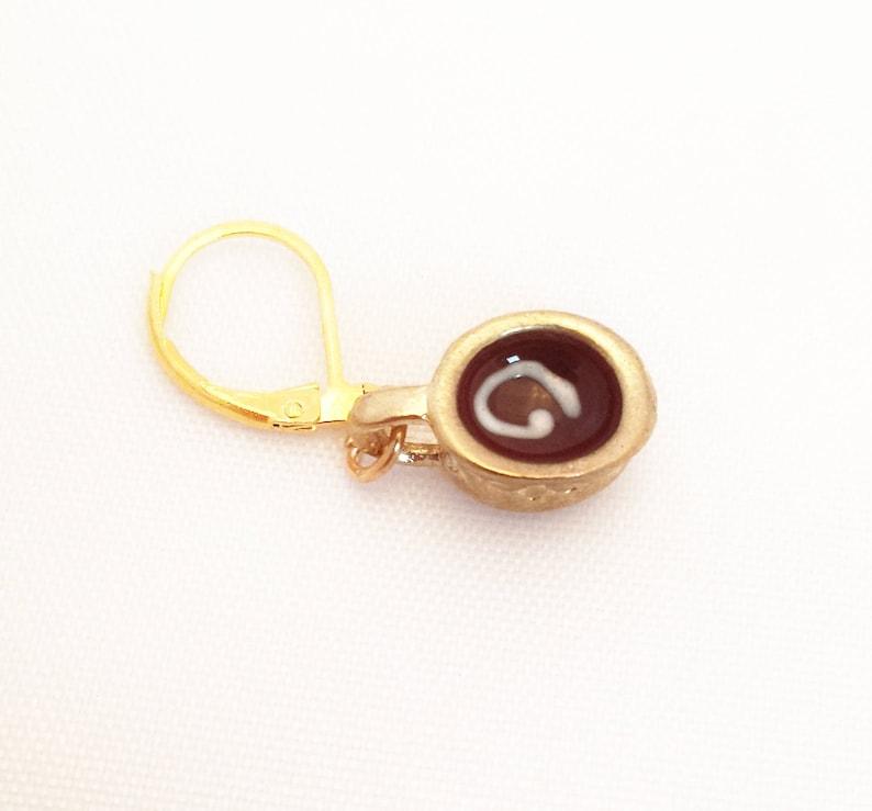 Chocolate Stitch Markers Hot Chocolate Progress Keeper  Chocolate Lovers Knitting Markers