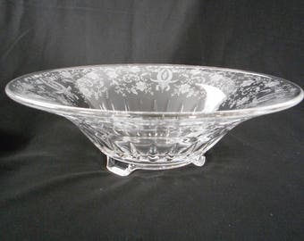 Antique Elegant Glass New Martinville Prelude Centerpiece Bowl