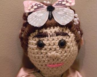 Frida Kahlo Doll Amigurumi Crochet Plush Softy Stuffed Animal Soft Sculpture