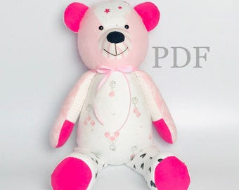 photo regarding Printable Teddy Bear Pattern called Teddy undertake habit Etsy