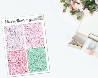 "Glitter Headers ||  ""Esme"" || planner stickers GH008 || Erin Condren Life Planner, KikkiK, Travelers Notebook"