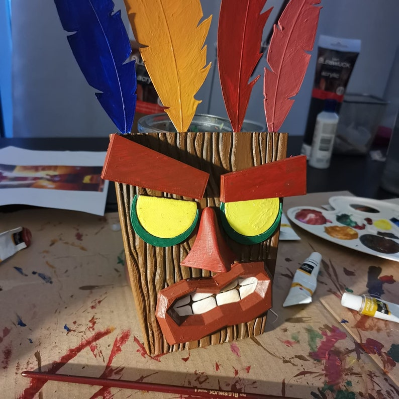 Crash Bandicoot UNIQUE aku aku mask 3D print