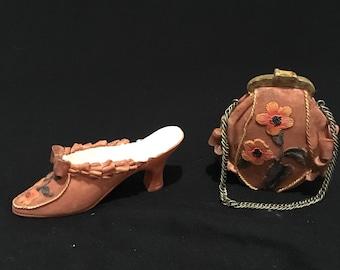 SALE ** Vintage Purse and Shoe Home Decor