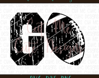 SVG DXF PNG cut file cricut silhouette cameo scrap booking Go Football Distressed
