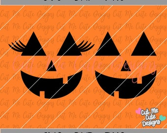 SVG DXF PNG cut file cricut silhouette cameo scrap booking Pumpkin Face