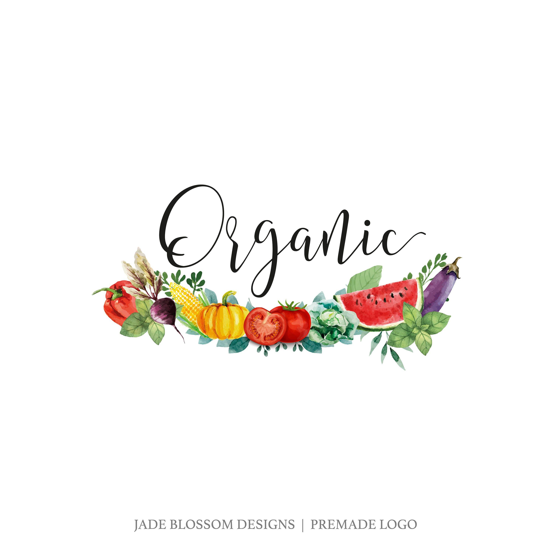 Premade Logo vegan logo food logo vegetables logo | Etsy