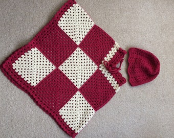 Girls Poncho and Hat Set, Age 3-5