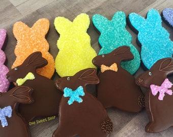 Chocolate Bunny Iced Cookies