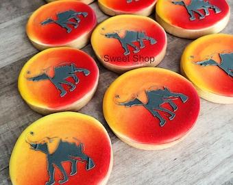 Elephant Iced Sugar Cookies
