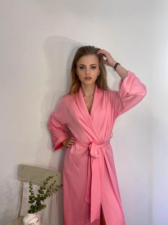 vintage 60s pink wrap dress