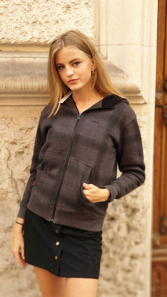 vintage 90s grey hoodie sweats Vans