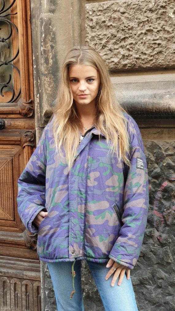 vintage 90s multicolor puffer ski jacket