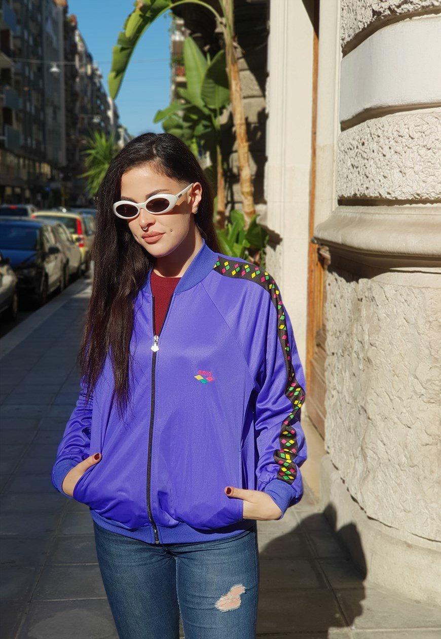 ARÈNE des années 90 90 années multicolore sweat veste cod.11-14 8aa9d5