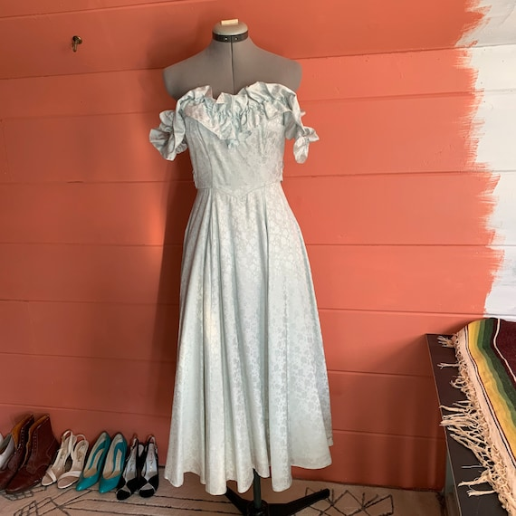 Vintage 1970s gunne sax prom dress size 3