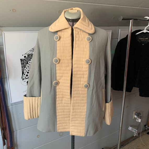 1960s Hong Kong wool housecoat