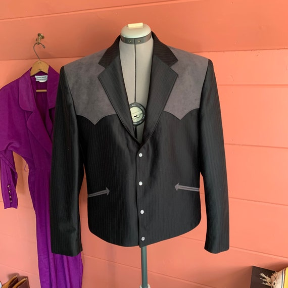 Vintage western style suit jacket by Pagano West