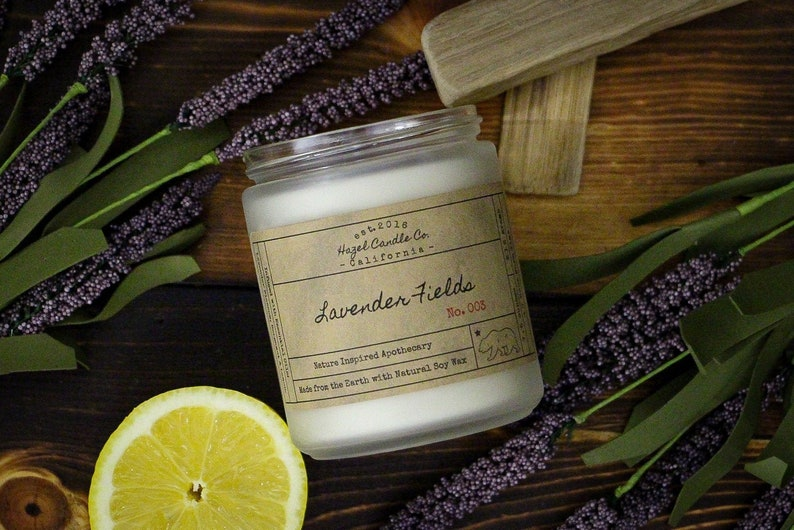 Lavender Scented Candles Eco Friendly Vegan Soy Candle image 0