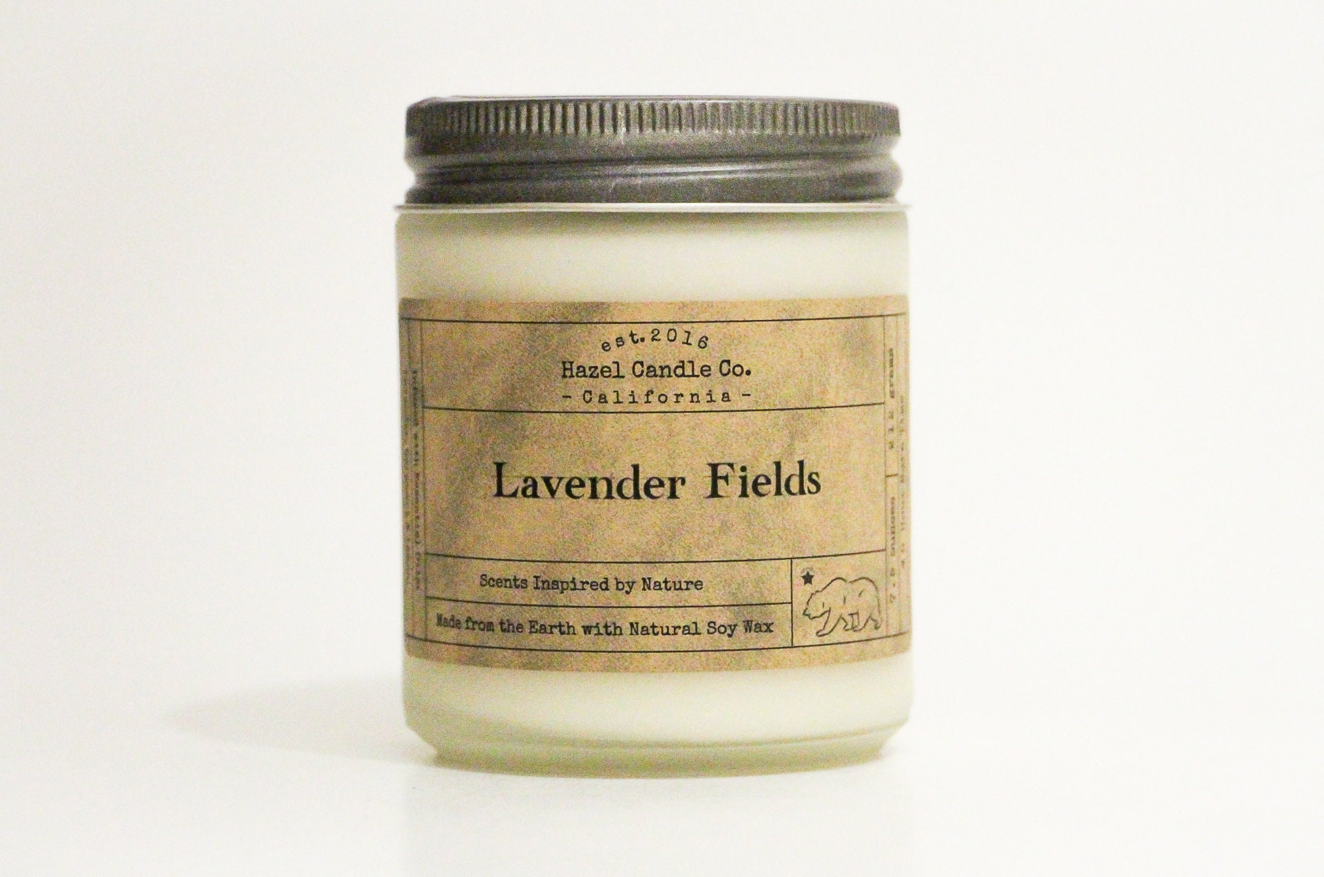 Lavender Scented Candles Eco Friendly Vegan Soy Candle Essential