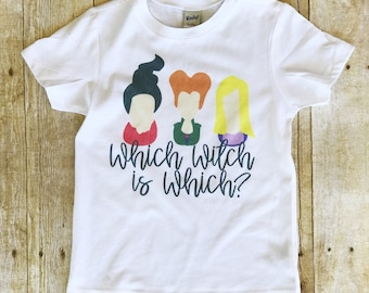 hocus pocus shirt which witch is which shirt toddler halloween shirt toddler hocus pocus shirt sanderson sisters halloween shirt kids shirt
