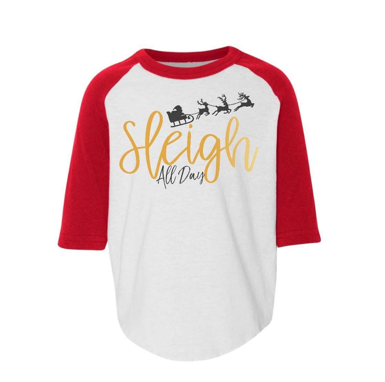 sleigh all day funny christmas shirt funny kids christmas | Etsy