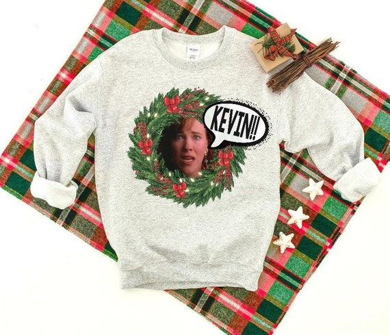 Home Alone Ugly Christmas Sweater Home Alone Kevin Shirt Home Etsy