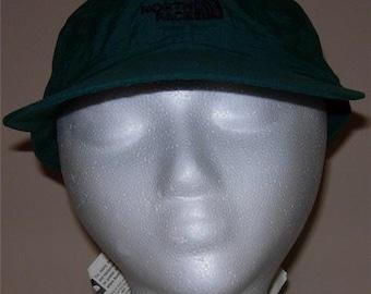 Dead stock NWT Vintage North Face Nylon Logo Baseball Cap Hat Laurel Green 1996/1997 OSFA Adjustable