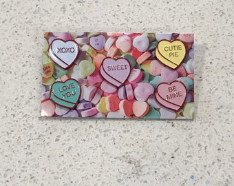 Conversation Candy Hearts Valentine's Day I Love You 5 Enamel Pin Set