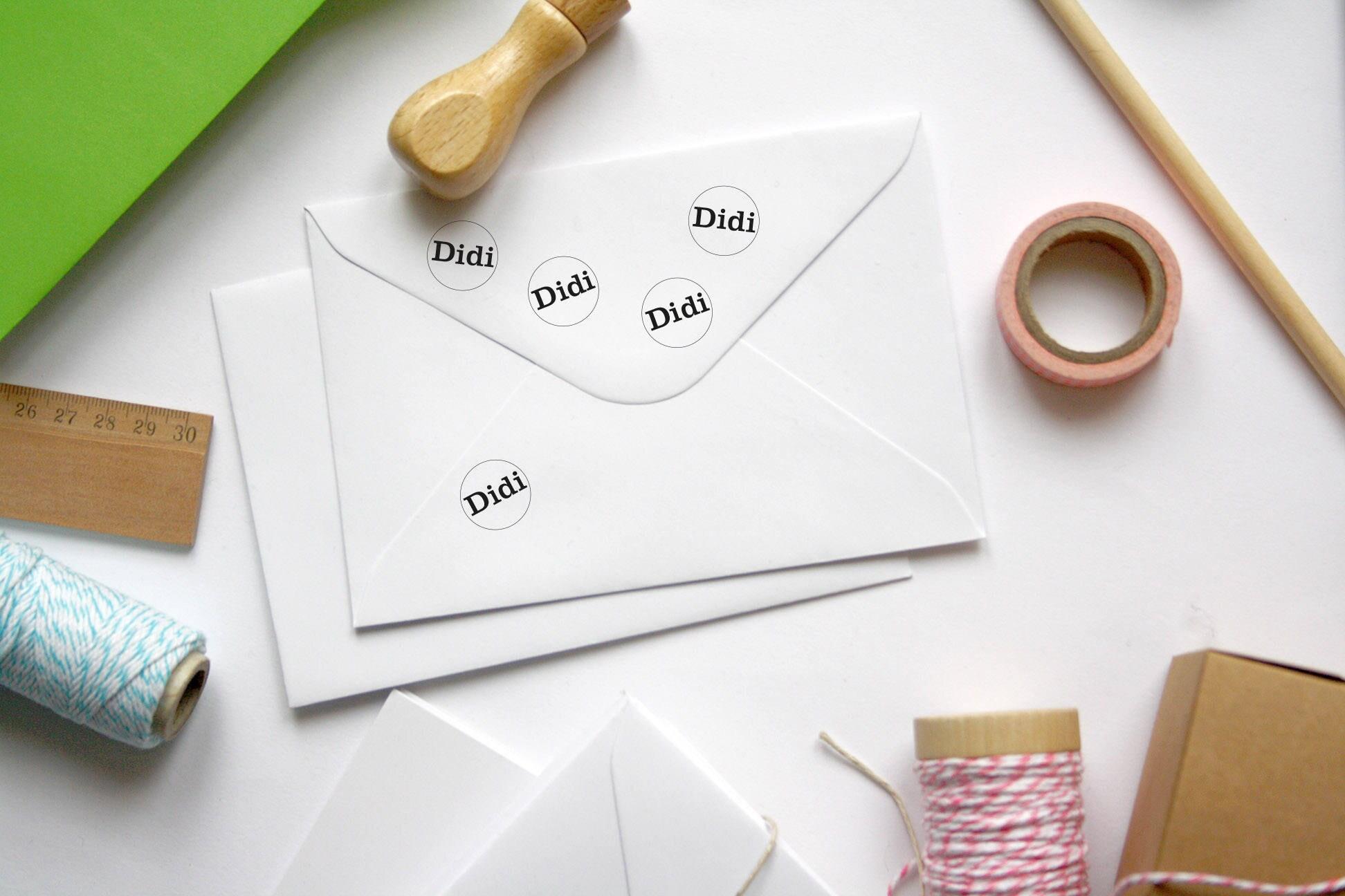 Monogram initials stamp, custom round circle wedding tag ...