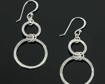 Handmade Textured Circles Earrings